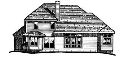 Rear Elevation Plan: 10-252