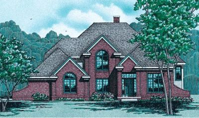European Style Home Design Plan: 10-255