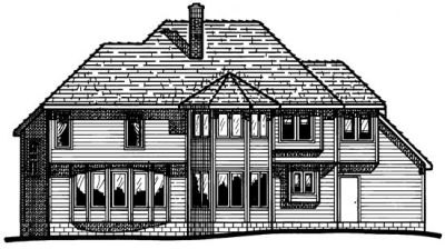 Rear Elevation Plan: 10-255