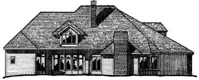 Rear Elevation Plan: 10-262