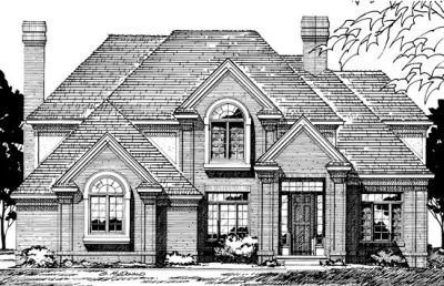 Traditional Style Home Design Plan: 10-270