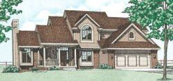Traditional Style Home Design Plan: 10-274