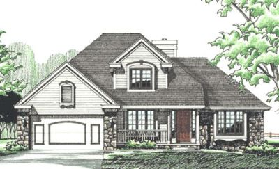Traditional Style Home Design Plan: 10-277