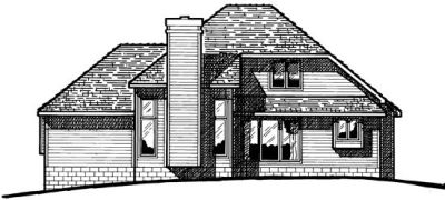 Rear Elevation Plan: 10-277