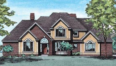 European Style House Plans Plan: 10-280