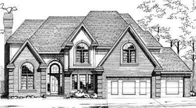 European Style Home Design Plan: 10-281