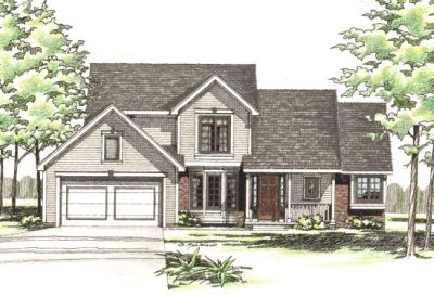 Traditional Style Home Design Plan: 10-285