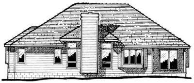 Rear Elevation Plan: 10-288