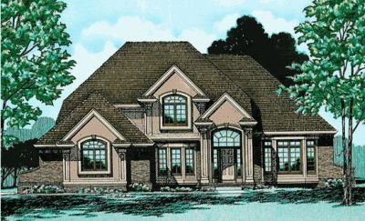 Traditional Style Home Design Plan: 10-291