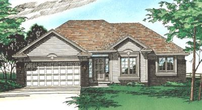 Traditional Style Home Design Plan: 10-293