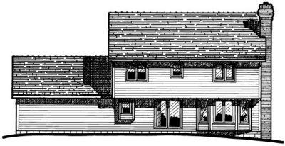Rear Elevation Plan: 10-301