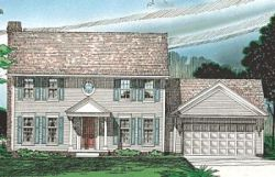 Early-American Style Home Design Plan: 10-301