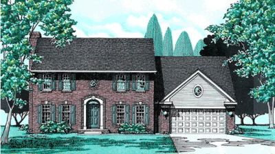 Early-american Style Home Design Plan: 10-302