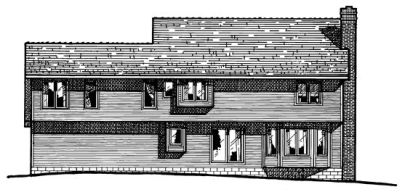 Rear Elevation Plan: 10-302
