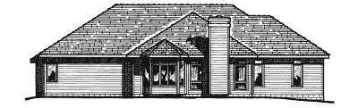 Rear Elevation Plan: 10-304