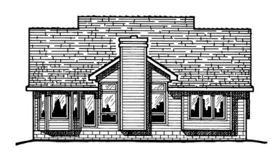 Rear Elevation Plan: 10-310