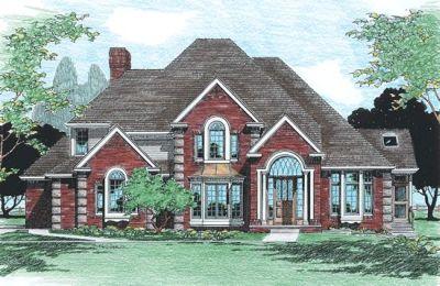 European Style Home Design Plan: 10-311