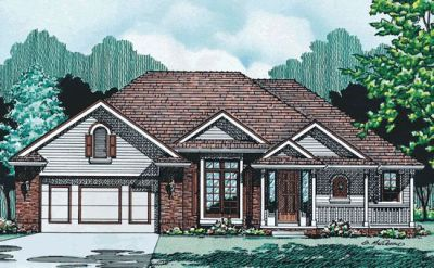 Country Style Home Design Plan: 10-317