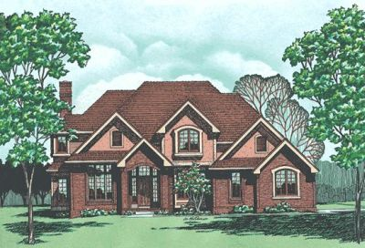 Traditional Style Home Design Plan: 10-319