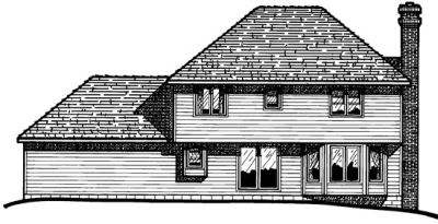 Rear Elevation Plan: 10-323