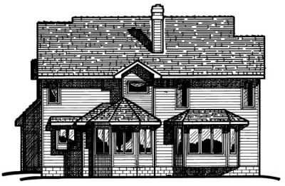 Rear Elevation Plan: 10-325