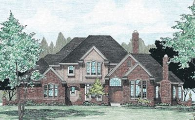 European Style Home Design Plan: 10-326