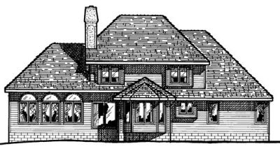 Rear Elevation Plan: 10-328