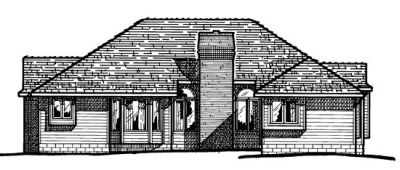 Rear Elevation Plan: 10-329