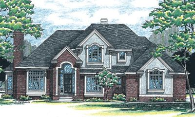 Traditional Style Home Design Plan: 10-332