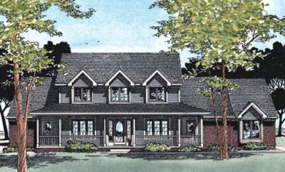 Country Style Home Design Plan: 10-334