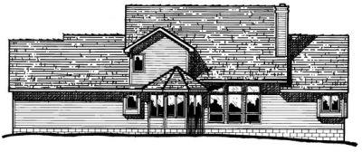 Rear Elevation Plan: 10-334