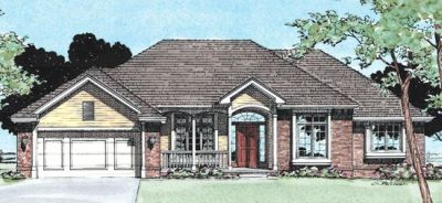 Traditional Style Home Design Plan: 10-335