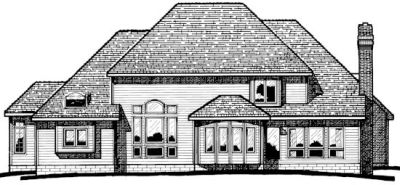 Rear Elevation Plan: 10-339