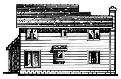 Rear Elevation Plan: 10-342