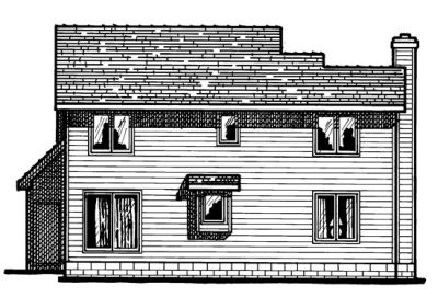 Rear Elevation Plan: 10-344