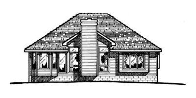 Rear Elevation Plan: 10-348
