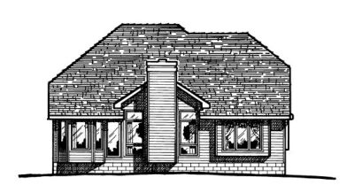 Rear Elevation Plan: 10-349