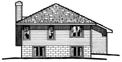 Rear Elevation Plan: 10-351