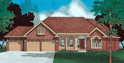 Traditional Style Home Design Plan: 10-356