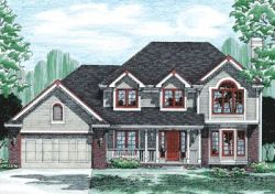 Traditional Style Home Design Plan: 10-359