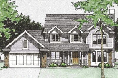 Country Style Home Design Plan: 10-360