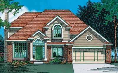 Traditional Style Home Design Plan: 10-364