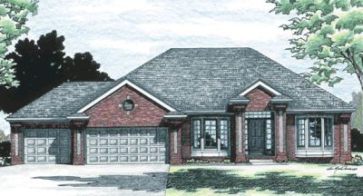 Traditional Style Home Design Plan: 10-367