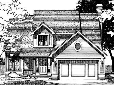 Traditional Style Home Design Plan: 10-373