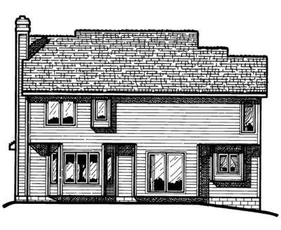 Rear Elevation Plan: 10-373