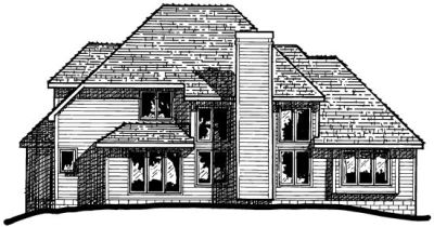 Rear Elevation Plan: 10-374