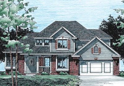 Traditional Style Home Design Plan: 10-377