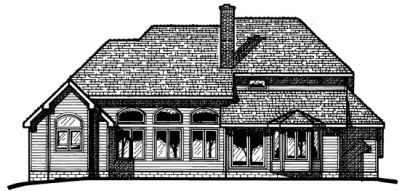Rear Elevation Plan: 10-379