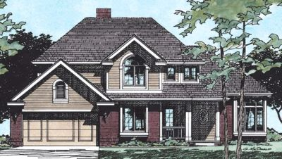 Traditional Style Home Design Plan: 10-382