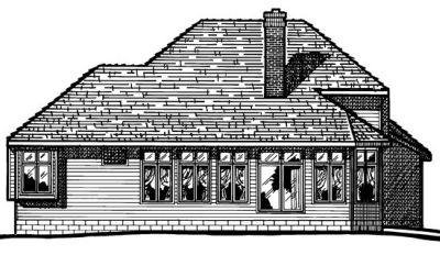 Rear Elevation Plan: 10-382